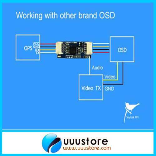 Skylark OSD Convert Module Adapter for other brand OSD Auto Antenna Tracker III