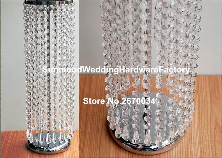 jarrones de centros de mesa de cristal de de alto