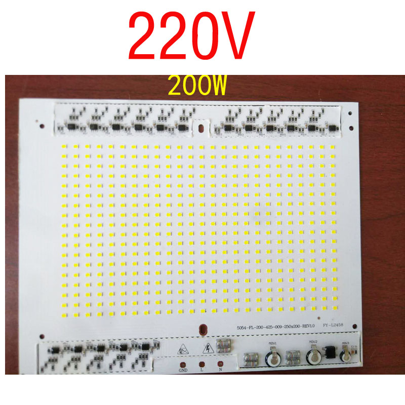 AC 220V 100W 120W 150W 200W Driverless 5730SMD module chips integrated Driver led PCB circuit board For led high bay light lamp 5pcs 100w high bay light pcb panel dimmable smd5730 aluminum plate ac 220v directly driverless integrated driver