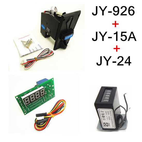 926+15A+24 coin operated time control device for cafe kiosk, multi coin selector with timer board and counter