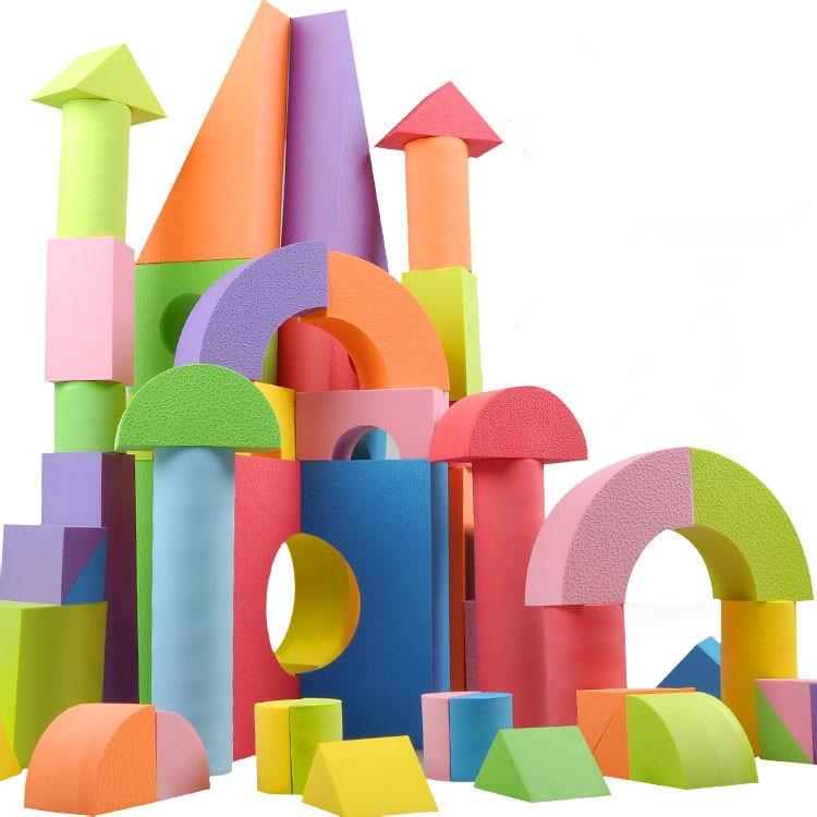 50 Pcs Set High Quality Eva Safe Children Building Brick Block Foam