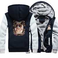 Funny Cat Animal Print I HAD FUN ONCE Hoodies Men Harajuku Winter Thick Jacket Fleece Warm Coat 2018 Hot Sale Men's Sweatshrits