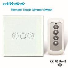 EWelink Reguladores de voltaje de Control Remoto Inalámbrico de Luz Estándar de LA UE, Cristal Touch Panel Dimmer Interruptor de Casa Inteligente