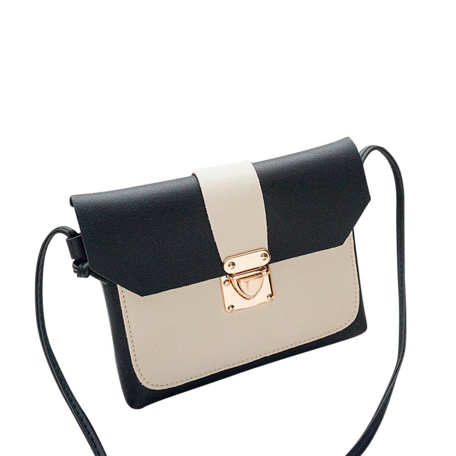 New Arrival Women Fashion Cover Patchwork Crossbody Bag High Quality Leather Shoulder Bag Phone Coin Bag 2018 bolsa feminina S