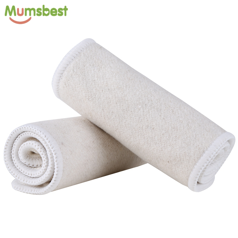 [Mumsbest] 1Pc Retail 4 Layers Quality Orangic Hemp Cotton Nappy Insert Washable Baby Cloth Diaper Cotton Hemp Inserts One Size
