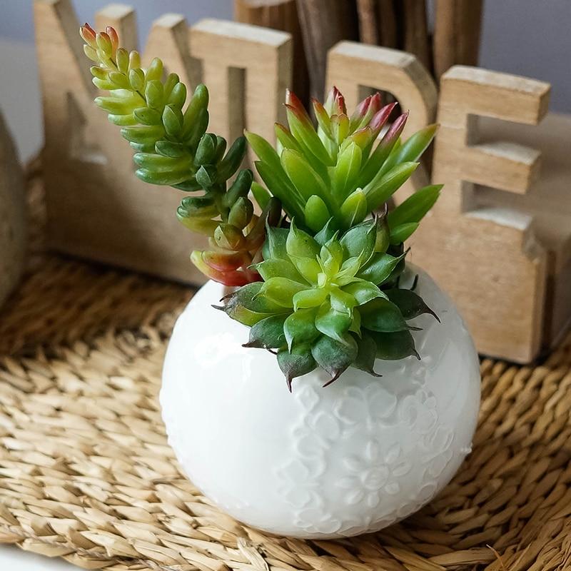 Künstliche Pflanzen gefälschte Sukkulenten Sukkulenten Bonsai Blumen Land Lotus