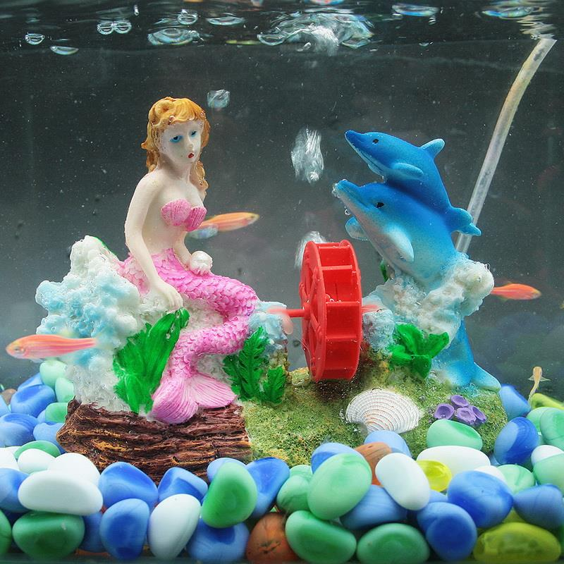 New aquarium ornament mermaid fish tank landscape decoration in decorations from home garden - Fish tank christmas decorations ...