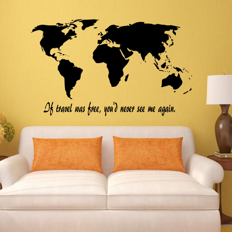 If Travel Was Free You\'D Never See Me Again Wall Art Stickers Home ...