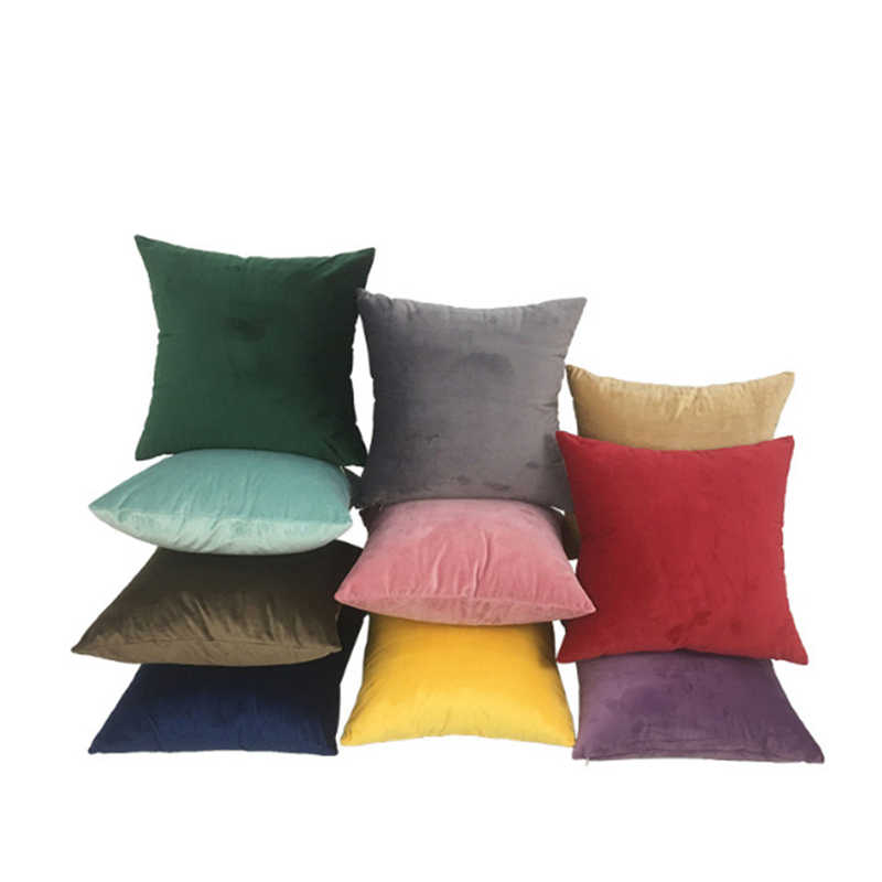 New 1pc Velvet Solid Color Pillow Siesta Pillow Cover Super Soft Sofa Cushion Children's Room Decoration League Home Decor