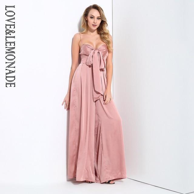 Love&Lemonade  Loose Straps Bow Waistsuit Jumpsuit 4 Colors LM0876