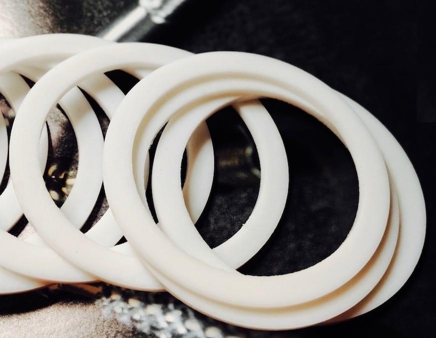 Custom Made 20x PTFE Teflon Fasteners Washers Insulation O Ring ...
