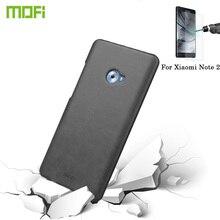 MOFI Xiaomi Mi Примечание 2 Crazy Horse случае примечание 2 Поверхности кожи ПК Защитный Чехол Задняя Крышка телефона передний экран протектор