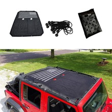 Hot sale Polyester Mesh Sun Shade Top Covers UV protection for 2007-2017 Jeep Wrangler JK 2 Door 4 Front Part