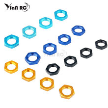 aluminium gear box upgrade parts 122075 blue for 1 10 rc car hsp redcat himoto 4PCS HSP Aluminum Alloy Combine Wheel Hex Nuts 17mm For RC 1:8 Model Car Off Road Monster Truck Himoto Upgrade Parts 81212