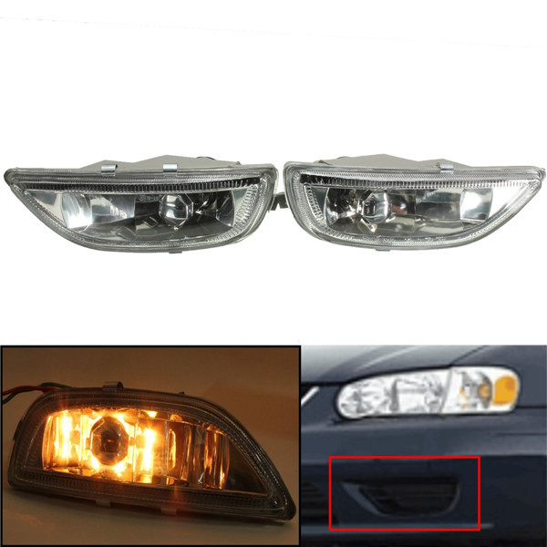 New A Pair Yellow Driving Front Per Fog Light Lamps For Toyota Corolla 2001 2002