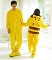 2016 Halloween Cospaly Traje Para Adulto Japão Anime Pikachu Pokemon Pikachu Sleepwear Flanela Unisex Pijama