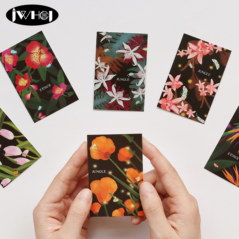 28 pcs/Pack Misty jungle Beautiful flowers Mini Lomo Card holiday Greeting Card thank card Postcard Birthday Gift Message Cards