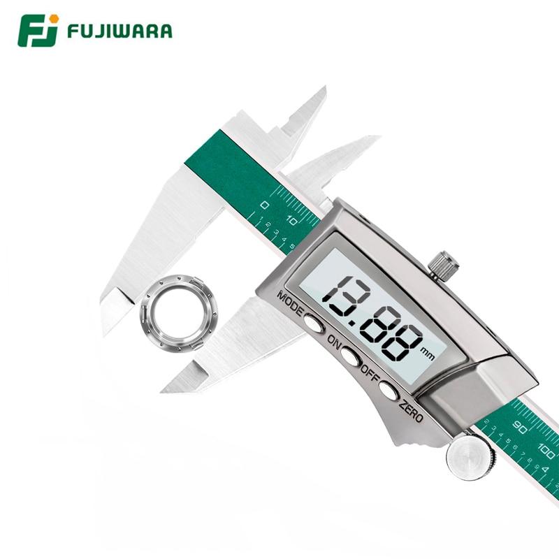 Tools : FUJIWARA 0-150mm Digital Display Stainless Steel Caliper  1 64 Fraction MM Inch LCD Electronic Vernier Caliper