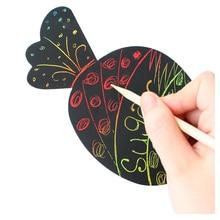 6 шт. детей конфеты мороженое форма выскабливание картины / дети DIY чертежной доске для детского сада художественных промыслов развивающие игрушки