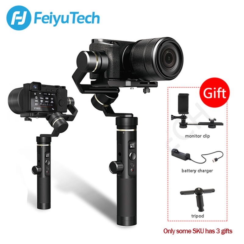 Feiyutech G6 plus 3 Axis Handheld Gimbal Stabilizer for Gopro hero smartphone Mirrorless Action Camera sony