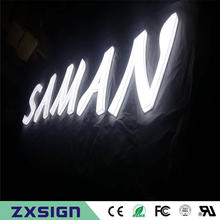 Factory Outlet Outdoor full Acrylic LED Advertising light box LED letters, Custom acrylic shop signs(China)