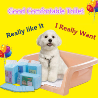 Pet Dog Accessories Toilet Small Medium Supplies Plastic Pet Health Prevent Paw Cleaner Splash Leakage Dog