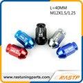 RASTP-20 unids/pack D1 Spec Aluminio Racing Tuercas de la Rueda Tornillo L = 40mm M12x1.5/1.25 Universal LS-LN009