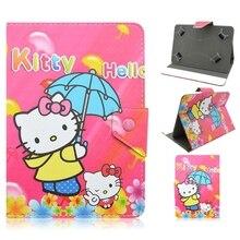 Kid 7 Pulgadas Hello Kitty Historieta Del Hombre Araña Caso de la Cubierta del Caso Universal de 7 pulgadas Para Samsung Huawei Tablet