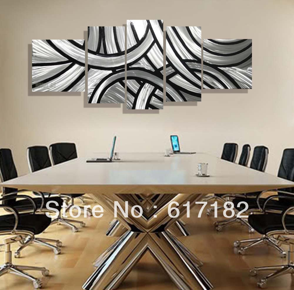 White Metal Art Modern Unique Design Irregular Handmade Metal Wall Art Fashionable