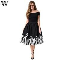 WOMAIL Europe Women S Octopus Squid Fancy Print Pattern Mini Knee Length Skater Skirt Skirt Solid