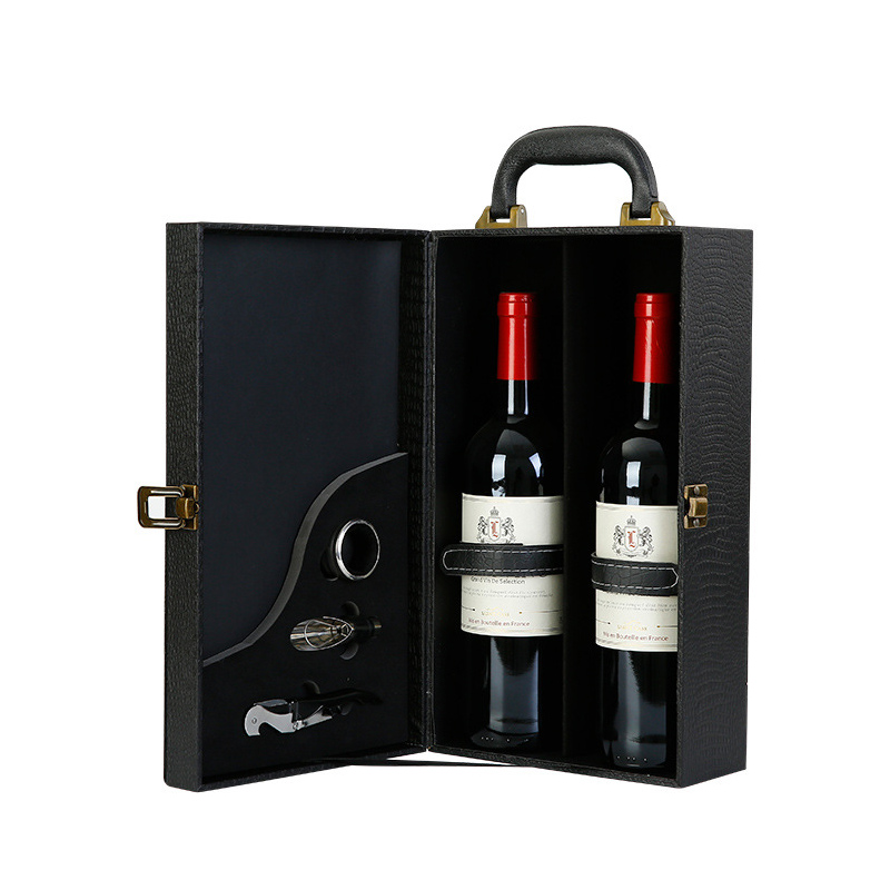Ornaments Handle-Box Wine-Holder Crafts Home-Decor-Accessories Business-Gifts Imitation-Crocodile