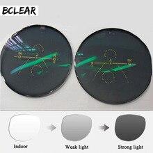 BCLEAR 1.56 Multi Focal Front Side Outside Progressive Chameleon Gray Brown Photochromic Sunglasses Lens standard multifocal