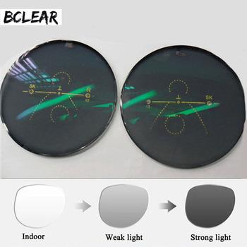 BCLEAR 1 56 wieloogniskowa przednia strona poza progresywnym kameleonem szare brązowe fotochromowe szkła przeciwsłoneczne standardowe wieloogniskowe tanie i dobre opinie CN (pochodzenie) Cr-39 Soczewki Okulary akcesoria 1 56 progressive photochromic UV400 Anti-odblaskowe 65mm 70mm 75mm UV400 HMC EMI