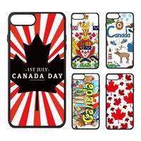 Carte canadienne Drapeau Rouge D'érable Feuilles Amour Bonne Fête Du Canada Emblème Toronto Téléphone Cas pour iPhone X 7/8 Plus Cas Phonecase Couverture