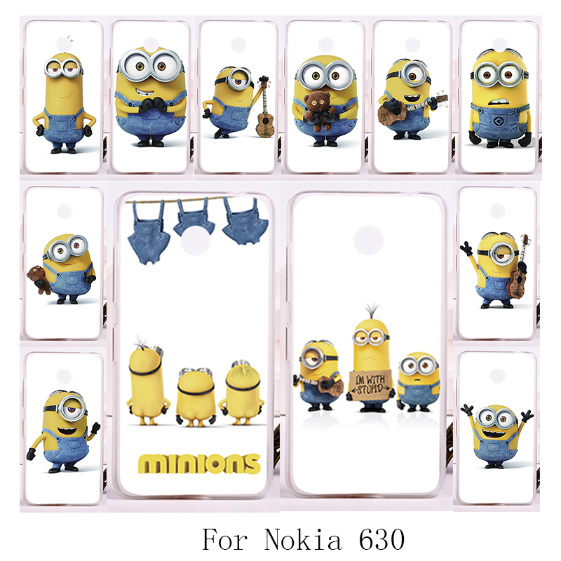 TAOYUNXI Minions Mobile Phone Cover For Nokia Lumia 630 DS Dual SIM RM-978 N630 3G RM-976 RM-977 RM-974 Plastic Soft TPU Cases
