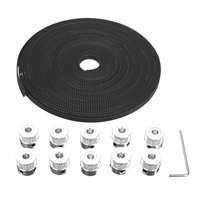 1pc Practical 10m GT2 Reinforced Timing Belt 10pcs 20 Teeth Pulley 20pcs Screw 1pc Wrench For