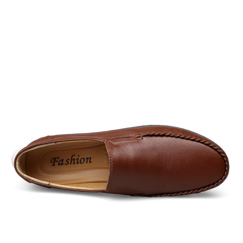 Mocassins Grande Primavera Homme Sapatos Clax Homem Masculinos De Mens Genuíno Black Verão Couro Sapato Tamanho Barco brown 2019 Casuais Chaussure 5ZZTvBqwx4
