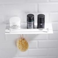 Space Aluminum Bathroom Storage Rack Nordic Free Punch White Bathroom Shelf Bathroom Pendant Corner Shelf Toilet Wall Shelfs