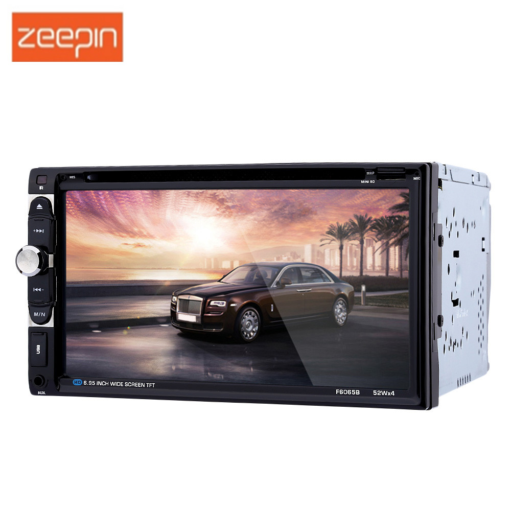 F6065B 6,95 zoll 2 Din Touch Screen Car Audio Stereo DVD Player Auto Video Hände-Freies Bluetooth FM Radio mit Fernbedienung
