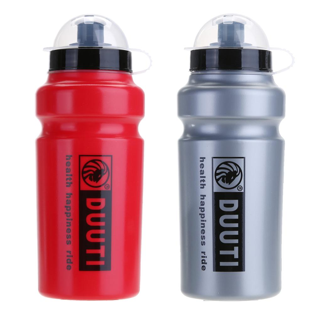 500ML Bike Water Bottle Bicycle Portable Kettle Water Bottle Plastic Outdoor Sports Mountain Bike Cycling Accessories Red Grey