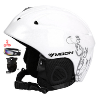 MOON Ski Helmet Women Men CE Safety In Mold Sking Snowboard Skateboard Snow Helmet Size S
