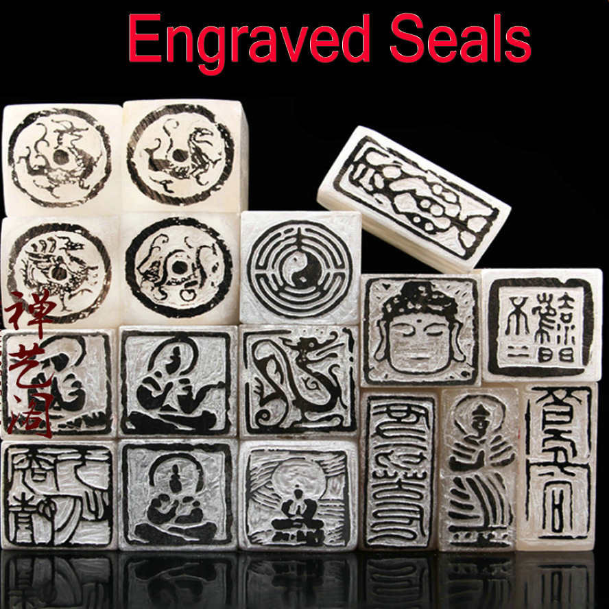 1 Piece Chinese Engraved Seal for Painting Calligraphy Finished Stamp Seal Signet Art Set Painting Supplies chinese customized photosensitive square name stamp for signet logo picture seal signature stamp art supplies