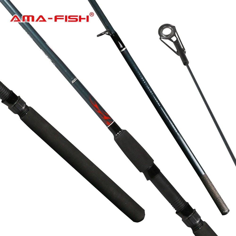 ФОТО AMA-Fish 100% Original Russia Brand Spinning Rod 2.1m 2 Sections Carbon Rods Fishing Rods 5-25g Spinning Fishing Tackle Sea Rod
