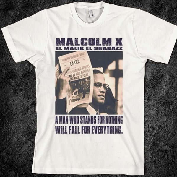 NEW <font><b>Malcolm</b></font> <font><b>X</b></font> <font><b>t</b></font> <font><b>shirt</b></font>, Black history, Africa, Black Pan MEN WOMEN <font><b>T</b></font>-<font><b>SHIRTS</b></font> S-5XL image