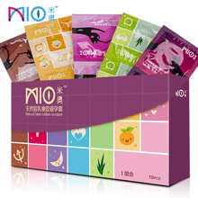 MIO Condom for Men 5 Types Ultra-Thin Lubricating Stimulate Pleasure Condoms 18/32/64Pcs Penis Sleeve Adult Sex Products Shop