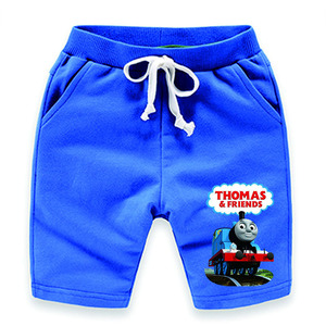 Image 4 - Thomas and Friends 2019 Summer Fashion Casual Short Sleeve O neck  New  clothesThomas Short Sleeve Cotton T Shirt + Pants  Suit