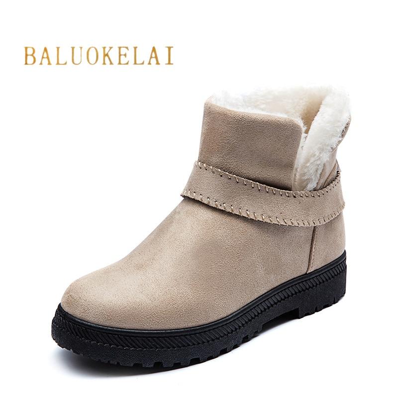 b2260976 Comprar Botas de invierno de 2018 nuevo estilo caliente de las mujeres de  la moda botas de punta redonda mujer caliente interior de felpa botas K 152  Online ...