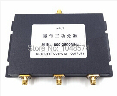 SMA female 3 Way Antenna power Splitter Divider Combiner 800-2500MHz for 3G 4G Mobile Phones and Modems