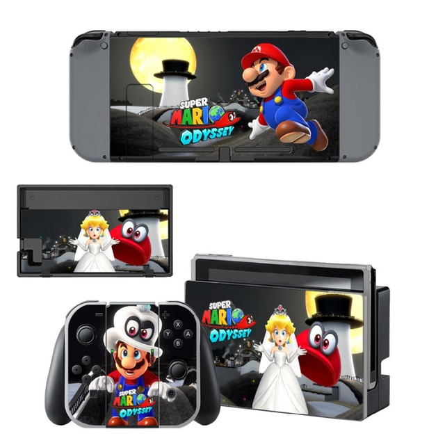 Gift Popular Game Super Mari o Skin Sticker For Nintend Switch Console Controller Vinyl Skin Cover Accessories NS 4
