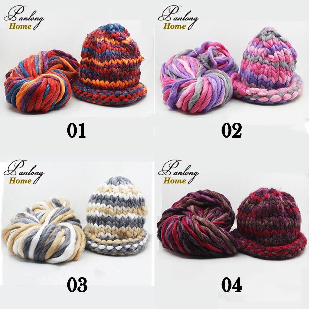 Panlonghome 250g superly engrosada lana suave Roving voluminoso ...